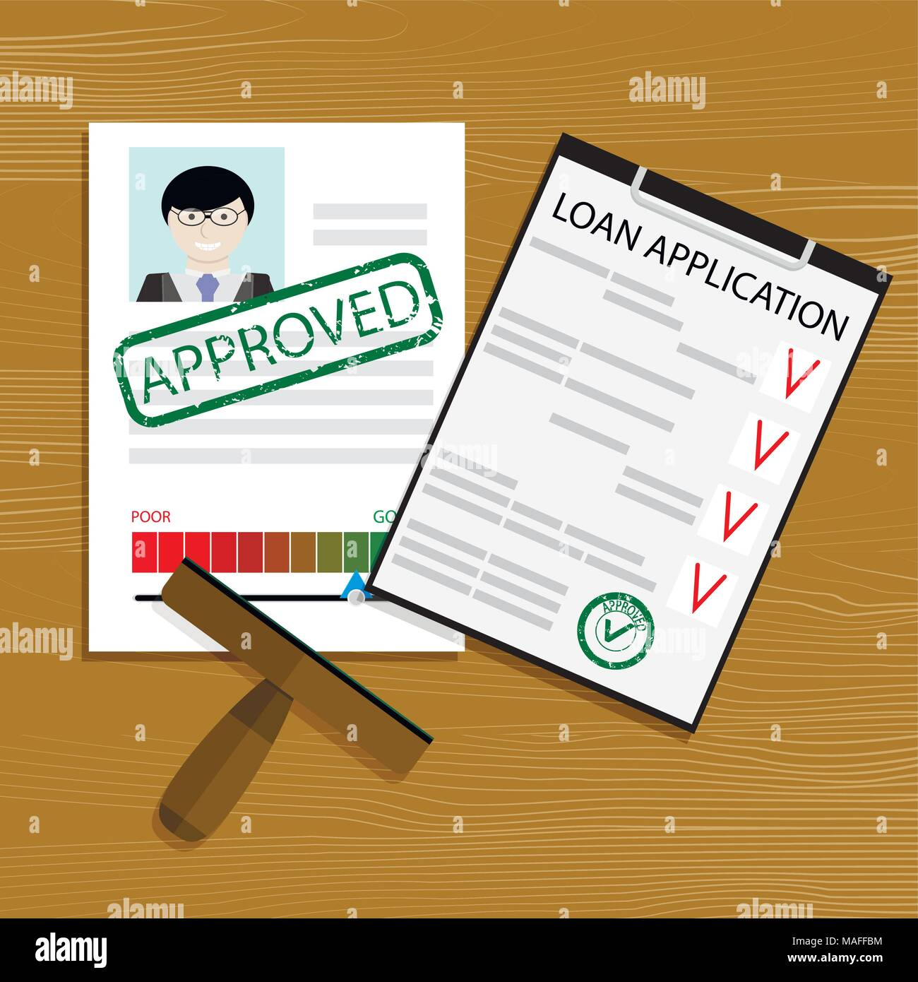 approved loan application financial credit form mortgage contract