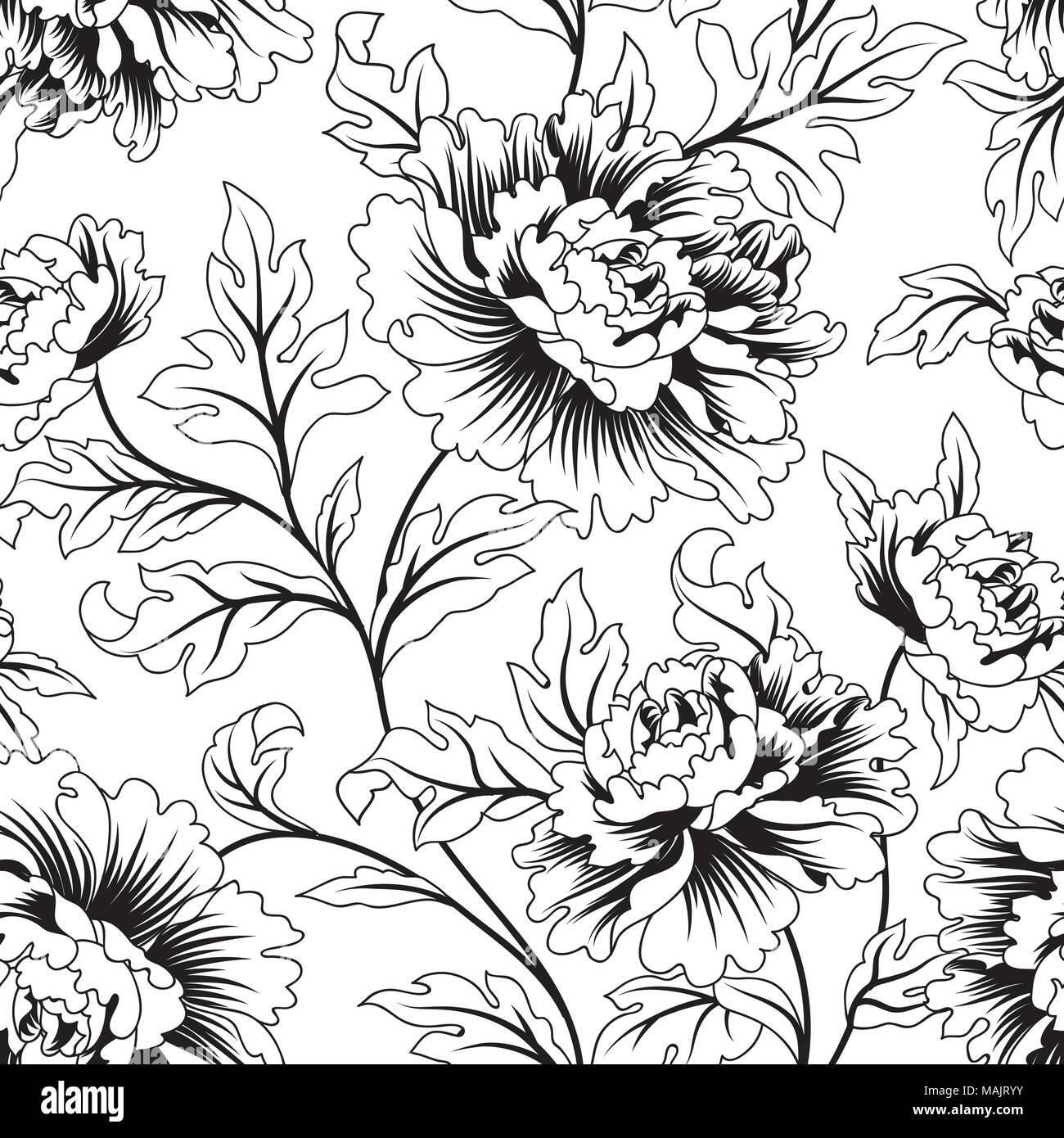 Floral Seamless Pattern Flower Background Flourish Ornamental