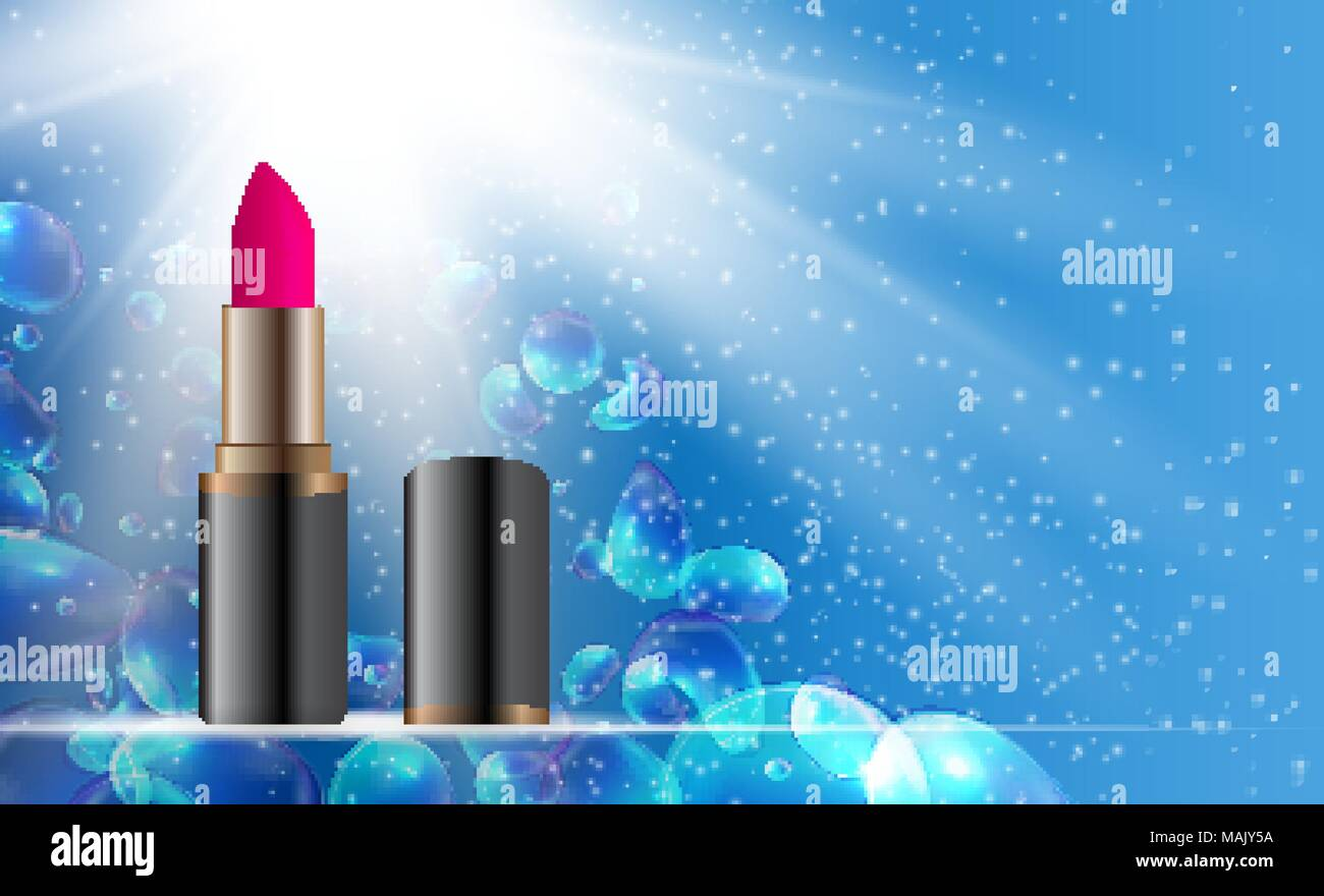 design cosmetics product lipstick template for ads or magazine