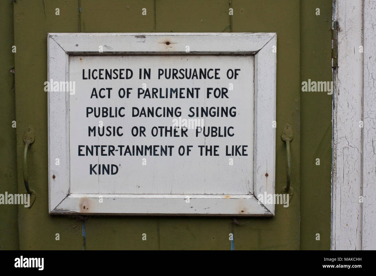 Bad spelling and an odd hyphen in a Suffolk notice - Stock Image