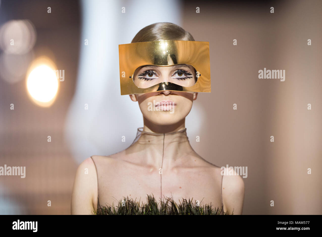Shanghai, Shanghai, China. 3rd Apr, 2018. Shanghai, CHINA-29th March 2018: The Christian Dior S/S 2018 Haute Couture Show is held in Shanghai. Credit: SIPA Asia/ZUMA Wire/Alamy Live News - Stock Image