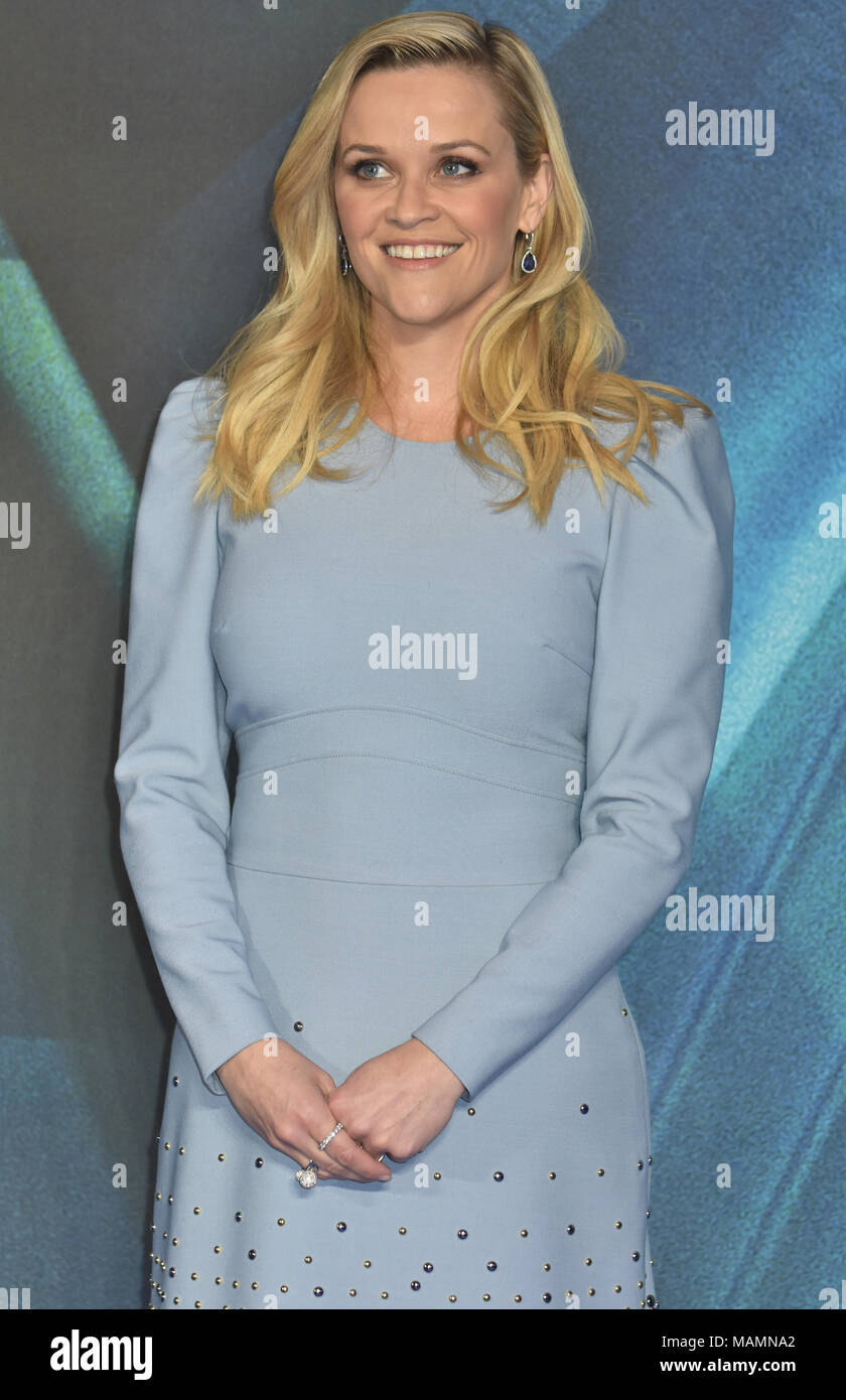 Reese Witherspoon,'A Wrinkle In Time' - European Premiere,BFI IMAX,Waterloo,London.UK - Stock Image