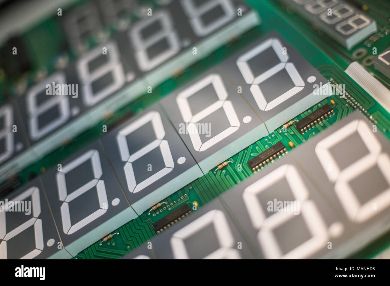 Circuit Board For Electronic Components With Digital Display Stock Stockfoto Printed Pcb Used In Industrial
