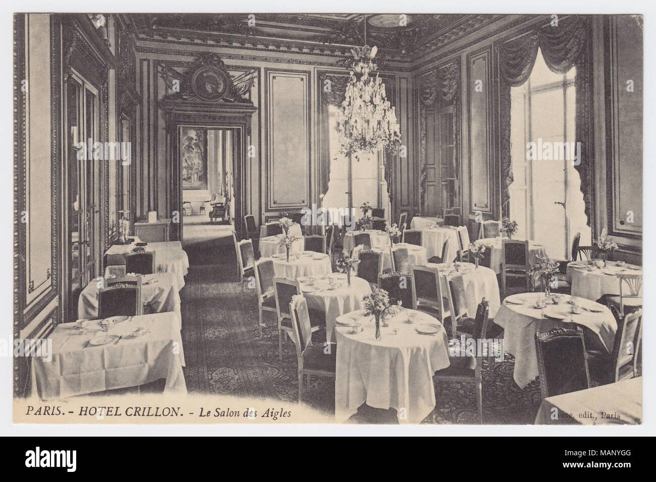 Hôtel de Crillon, Paris, France, Salon des Aigles, ca. 1910 - Stock Image