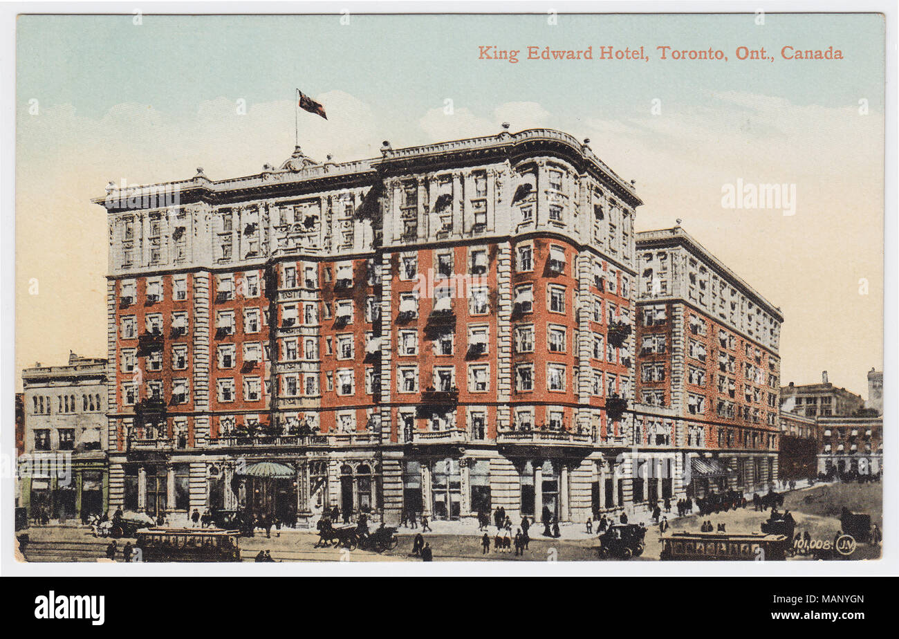 King Edward Hotel, Toronto, Canada, ca. 1905 - Stock Image