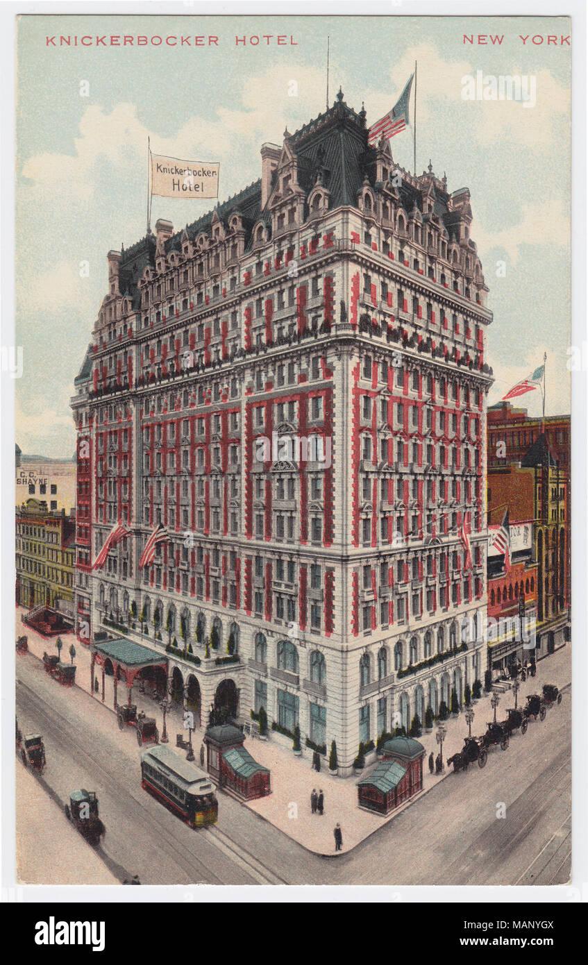 Knickerbocker Hotel, New York, United States, ca. 1910 - Stock Image