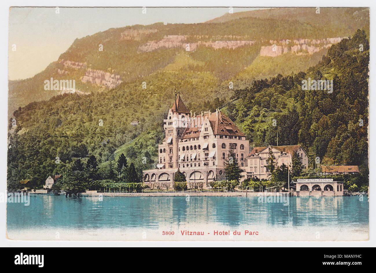 Park Hotel, Vitznau, Switzerland - Stock Image