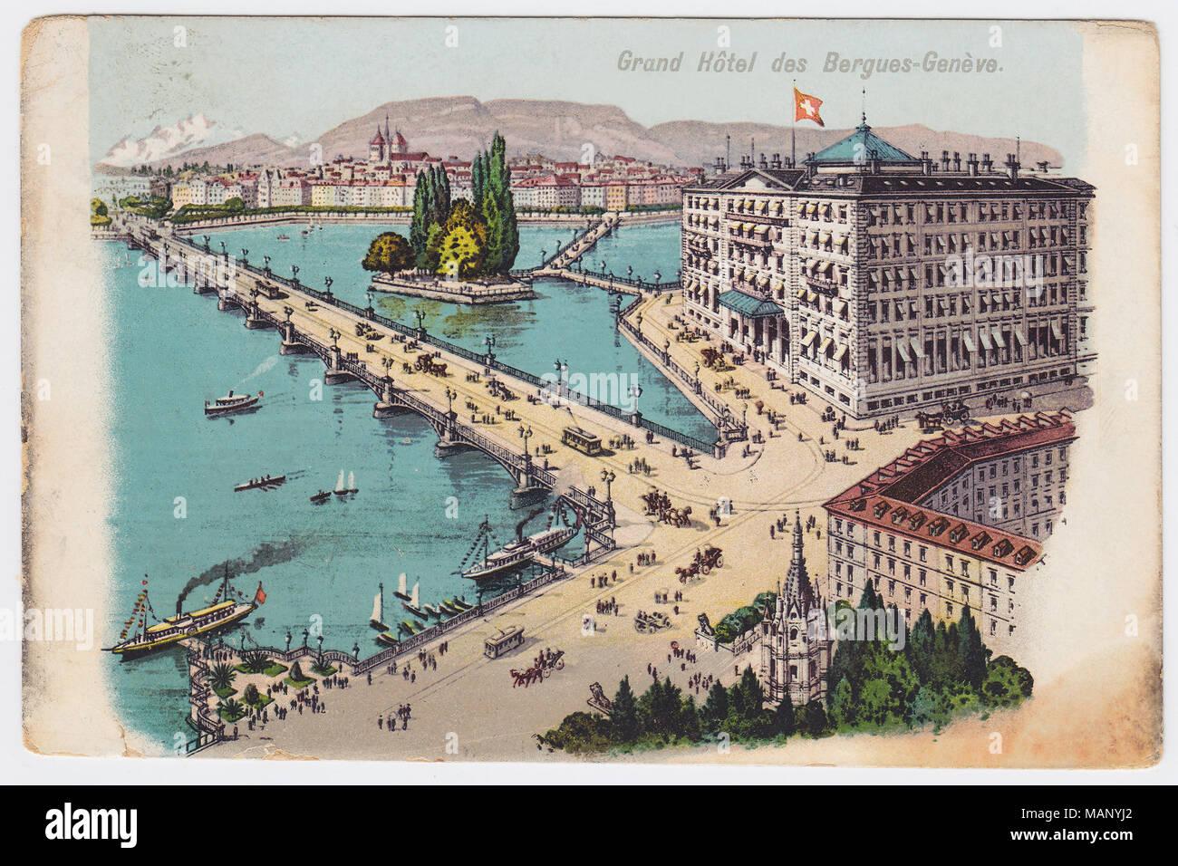 Hôtel des Bergues, Geneva - Stock Image