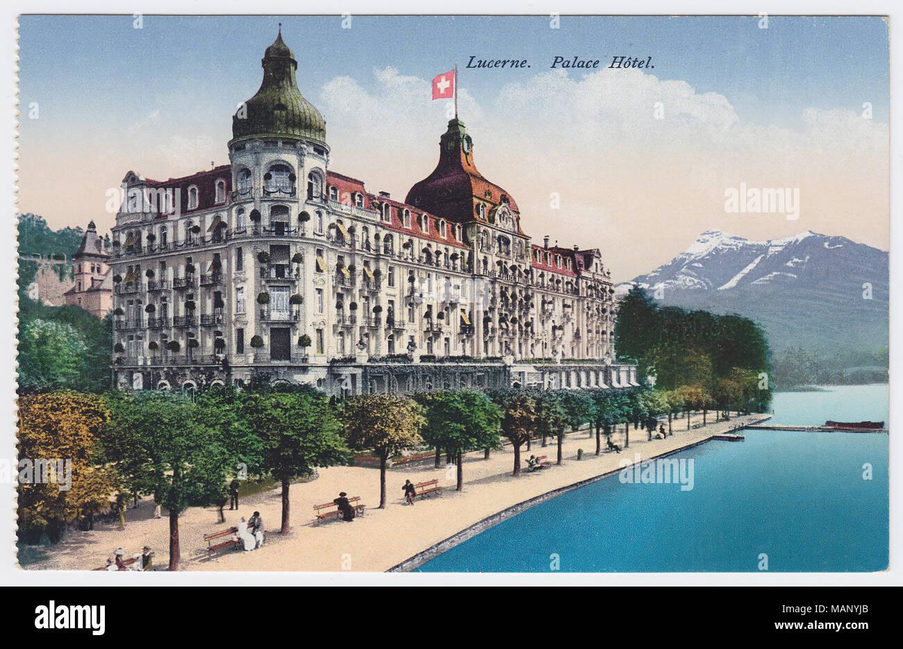 Palace Hotel, Lucerne, Switzerland - Stock Image