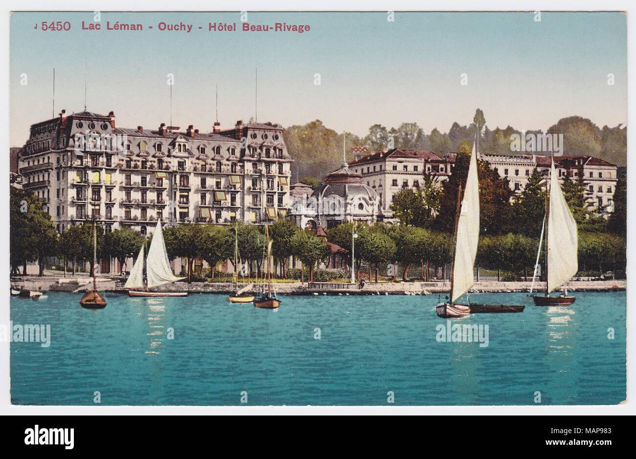 Beau-Rivage Palace, Lausanne, Switzerland - Stock Image