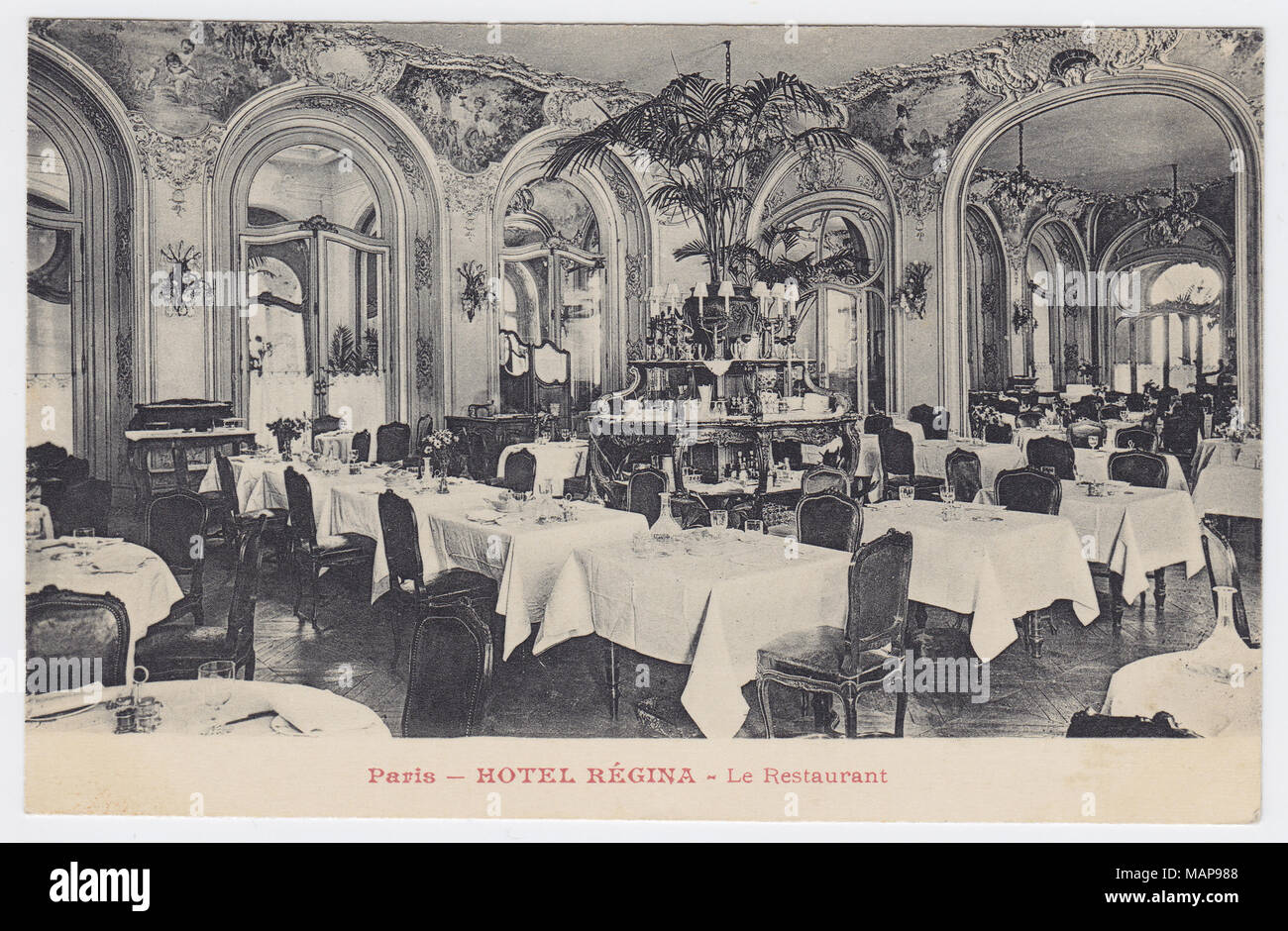 Hôtel Regina, Paris, France, Restaurant - Stock Image