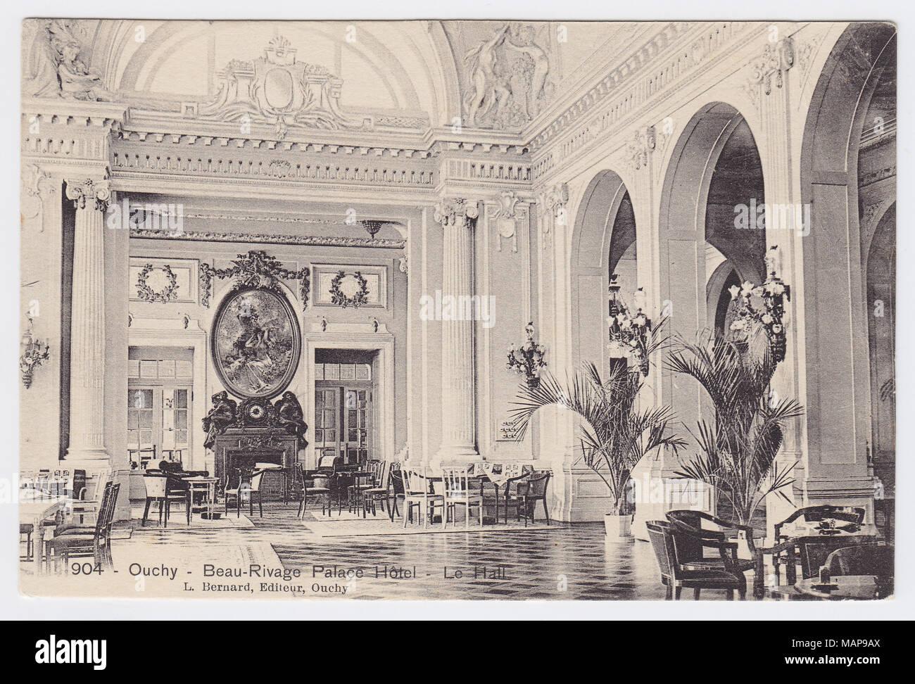 Beau-Rivage Palace, Lausanne, Switzerland, Hall - Stock Image