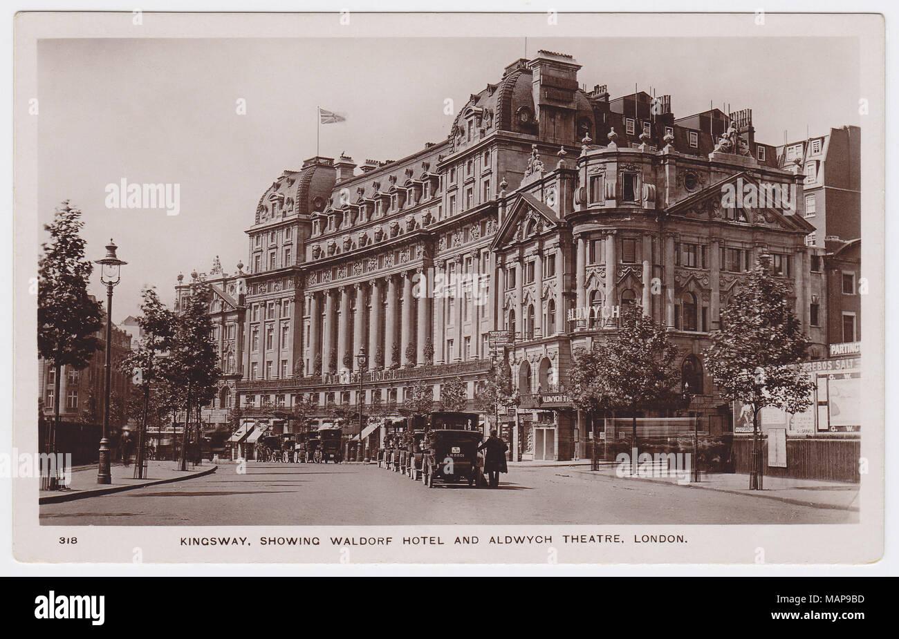The Waldorf Hotel & Aldwych, London, United Kingdom - Stock Image