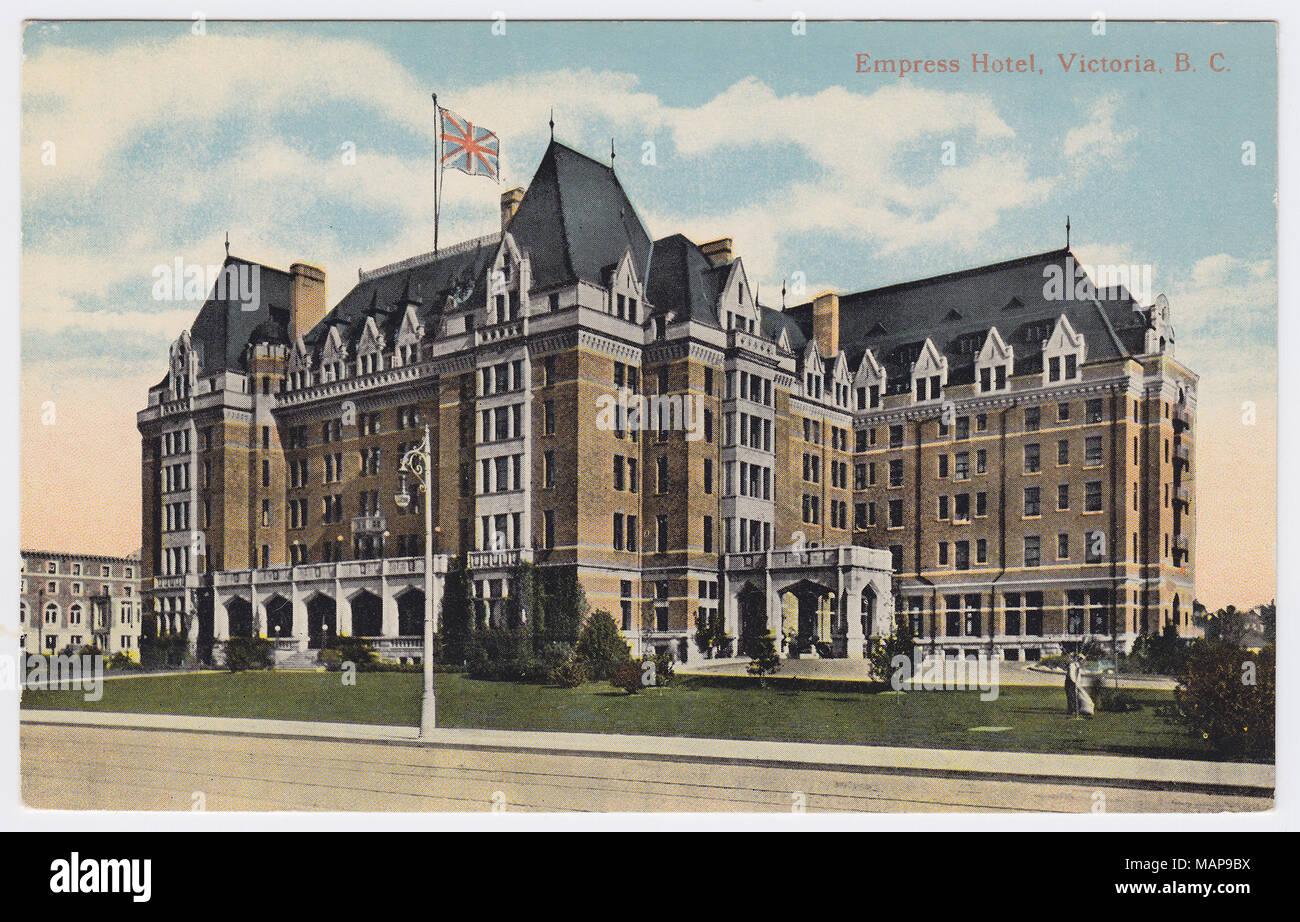 Empress Hotel, Victoria, Canada - Stock Image