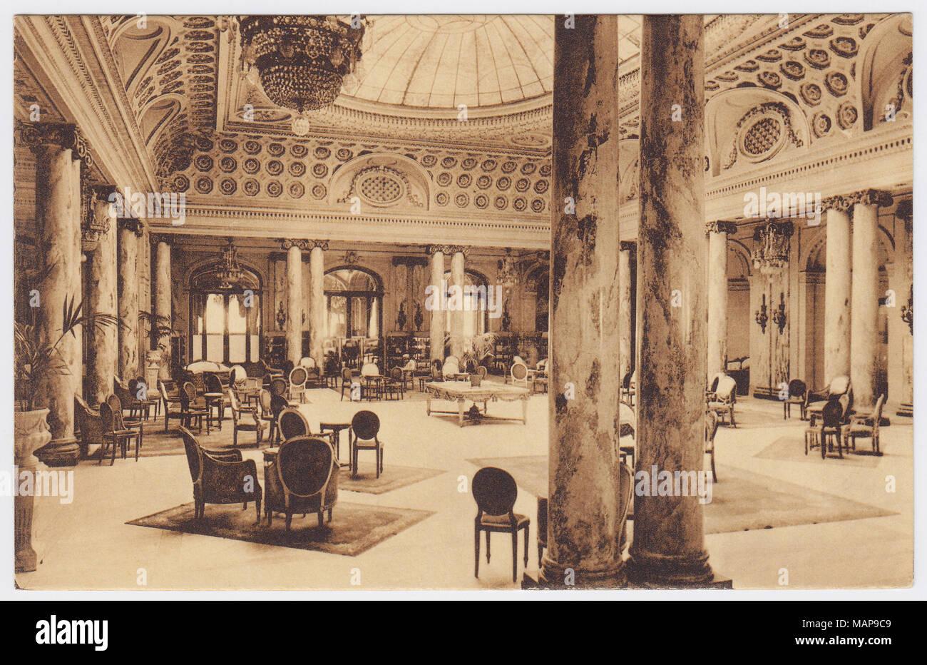 Hôtel Ruhl, Nice, France, Hall - Stock Image