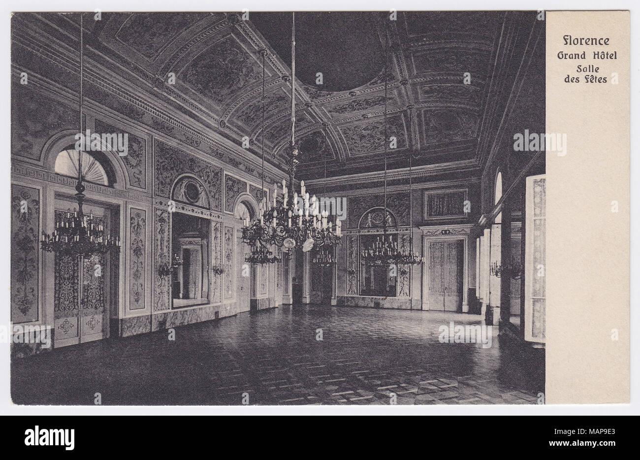 Grand Hotel, Florence, Italy, Ballroom - Stock Image