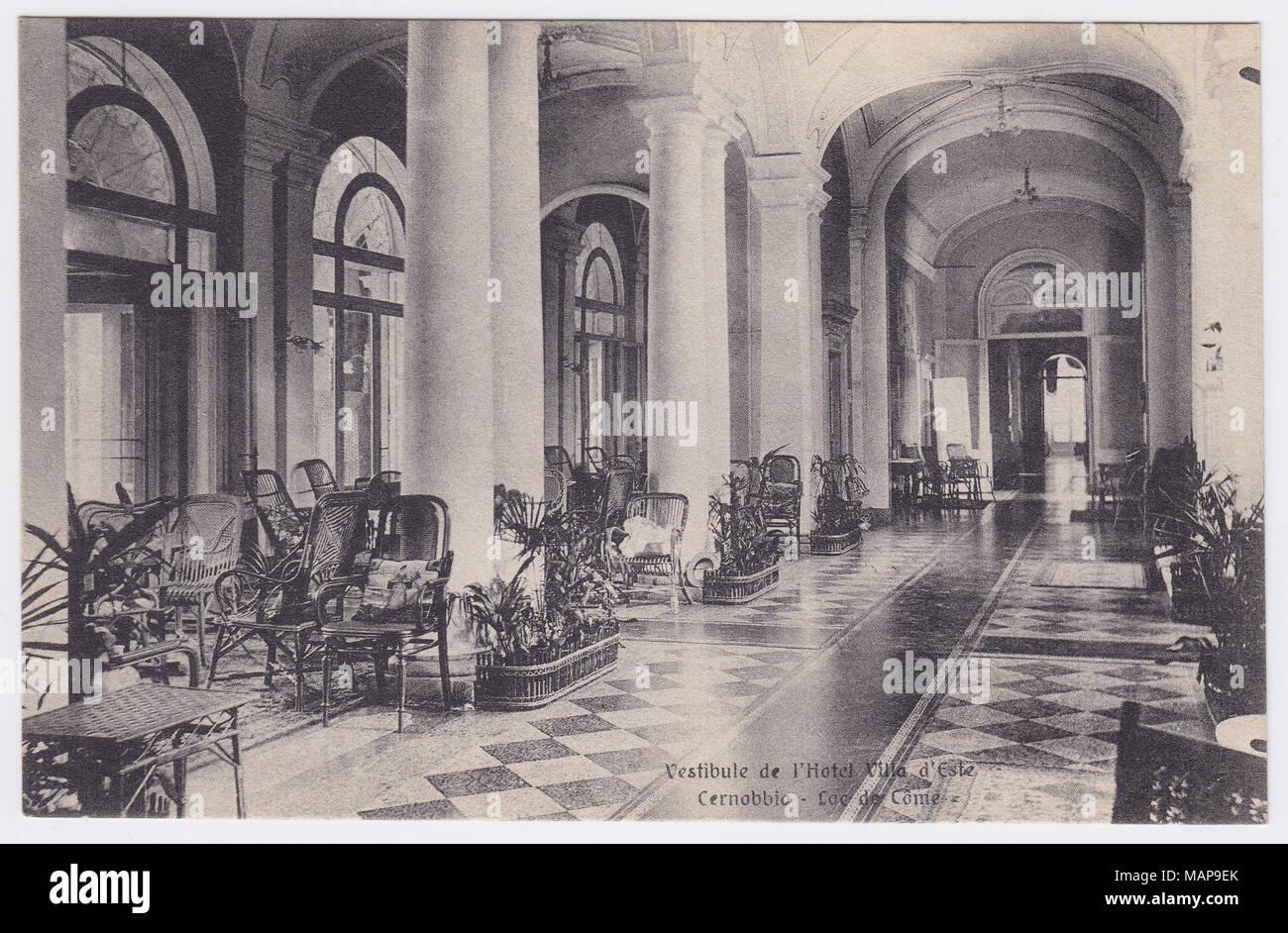 Villa d'Este, Cernobbio, Italy, Hall - Stock Image