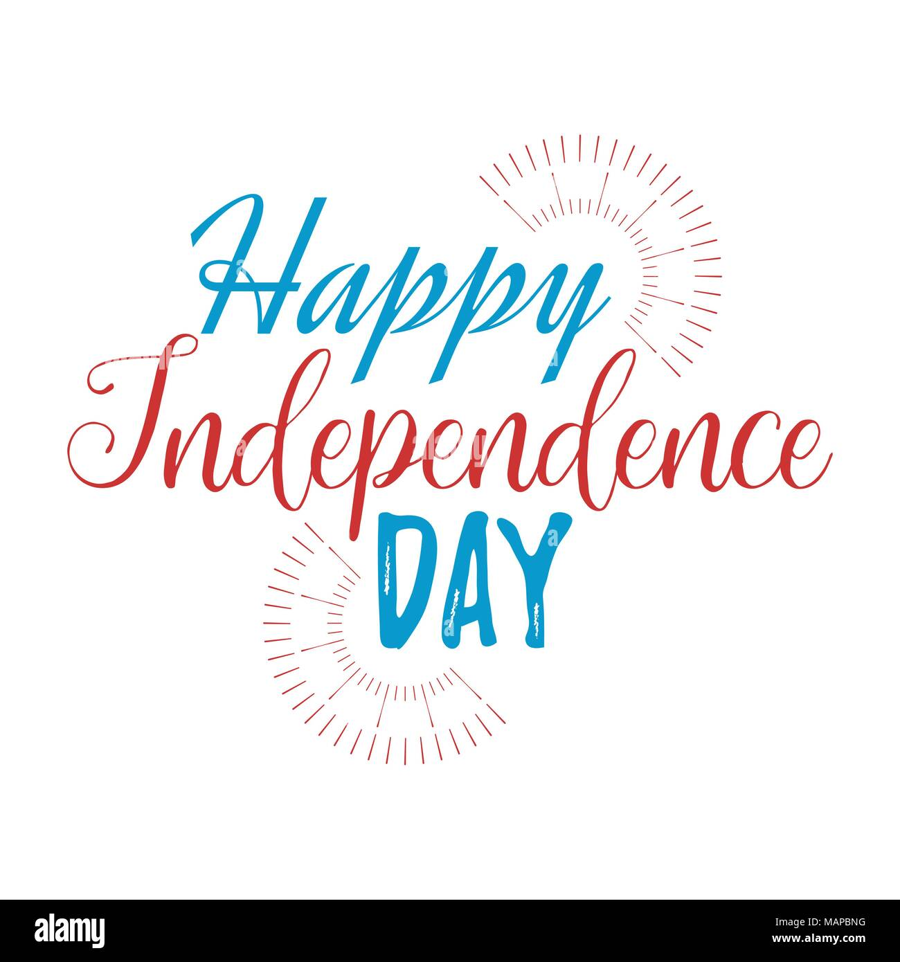 Happy independence day greeting card with font vector illustration happy independence day greeting card with font vector illustration m4hsunfo
