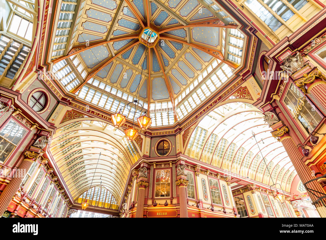 Leadenhall Market, City of London, UK - Stock Image