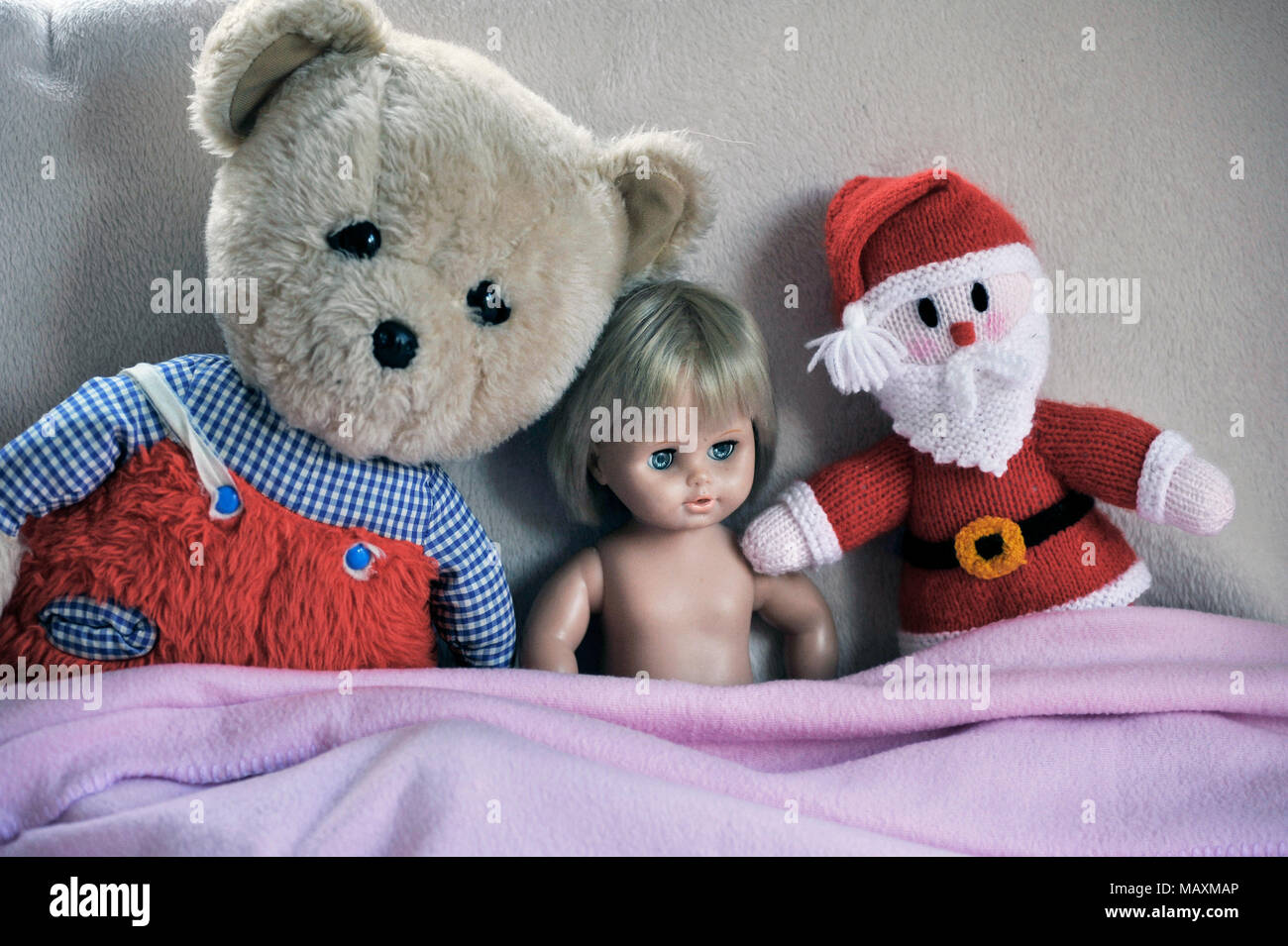 childs toys sitting together - Stock Image