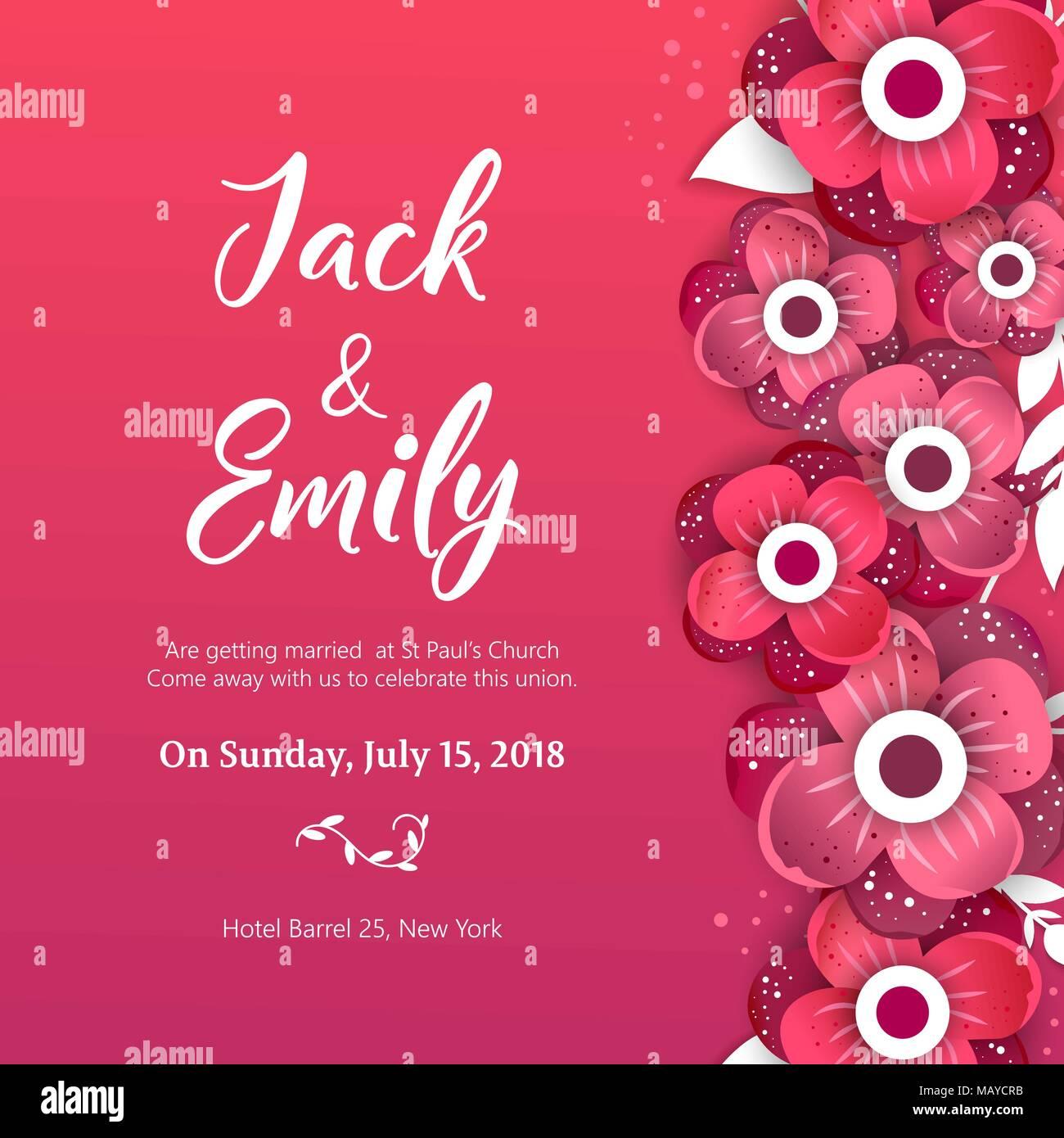 Wedding collection. Spring ornament concept. Wedding invite flyer ...