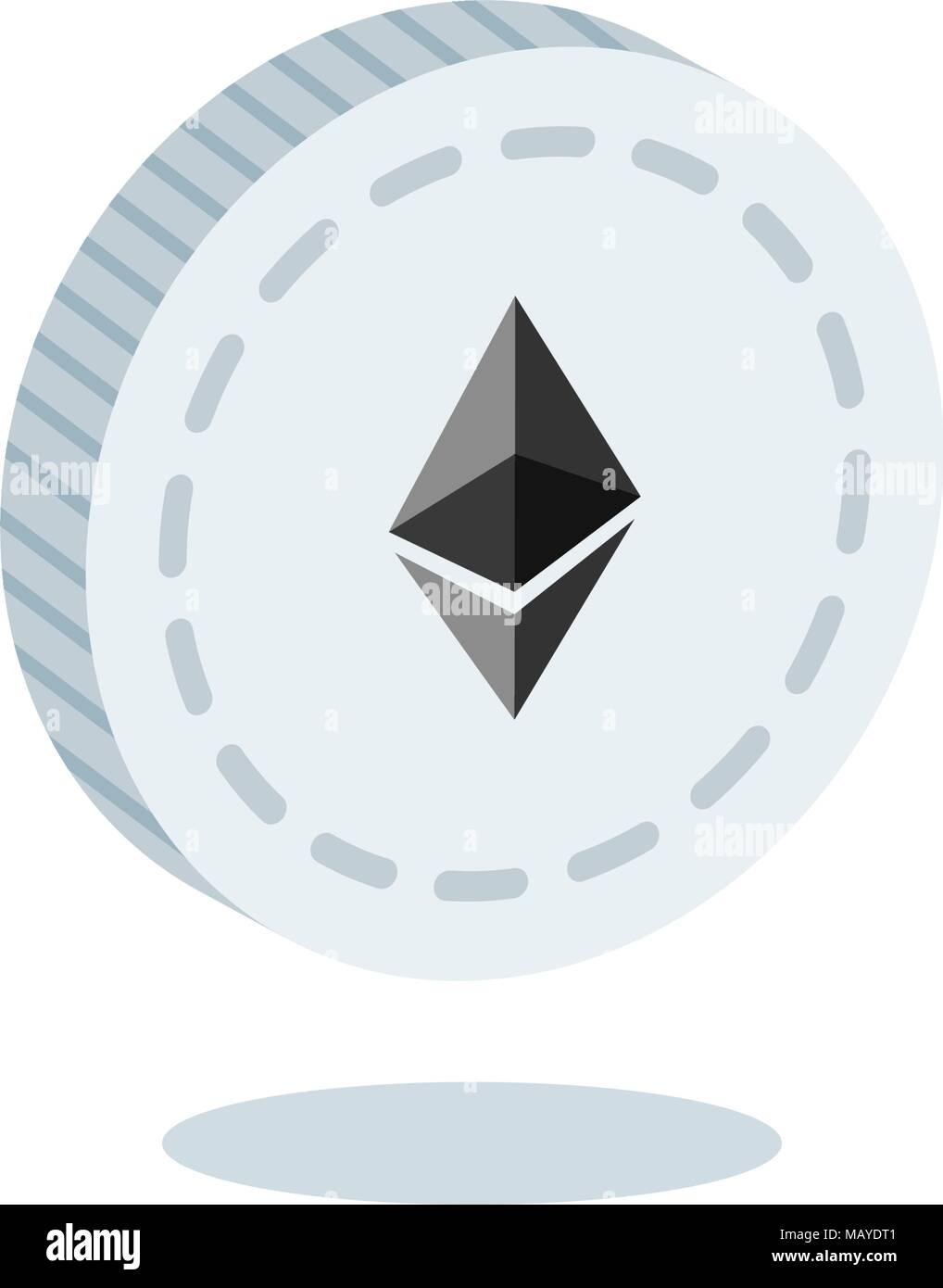Isometric 3d Ethereum Cryptocurrency Blockchain Flat Icon Use For Logos Print Products Page And Web Decor Or Other Design