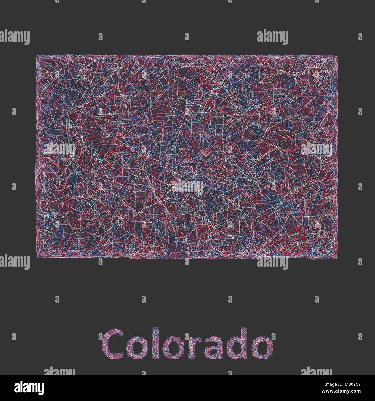 Colorado Map Art.Colorado Line Art Map Stock Vector Art Illustration Vector Image