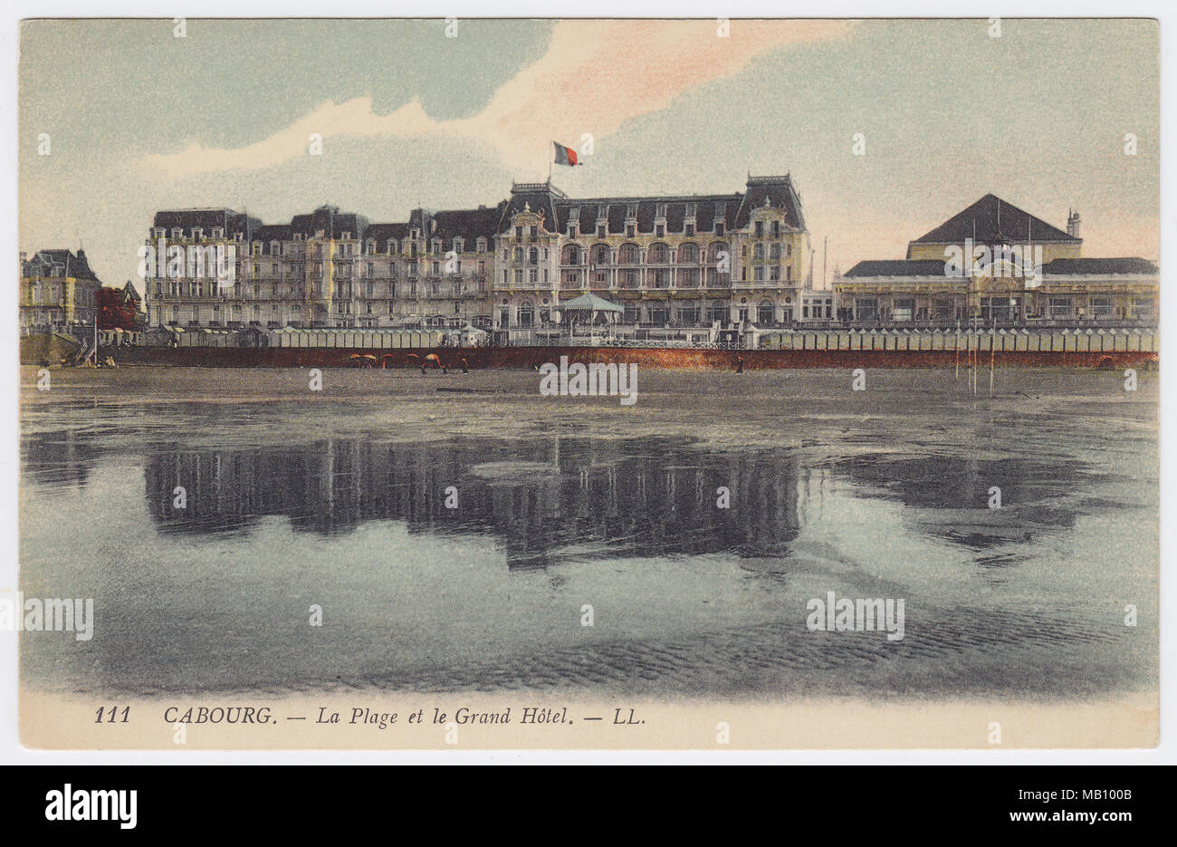 Grand Hotel, Cabourg, France - Stock Image