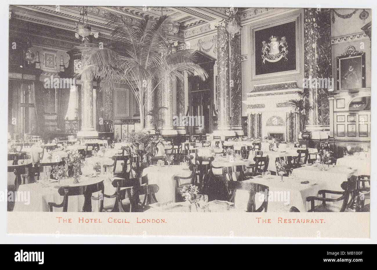 Hotel Cecil, London, United Kingdom, Restaurant - Stock Image