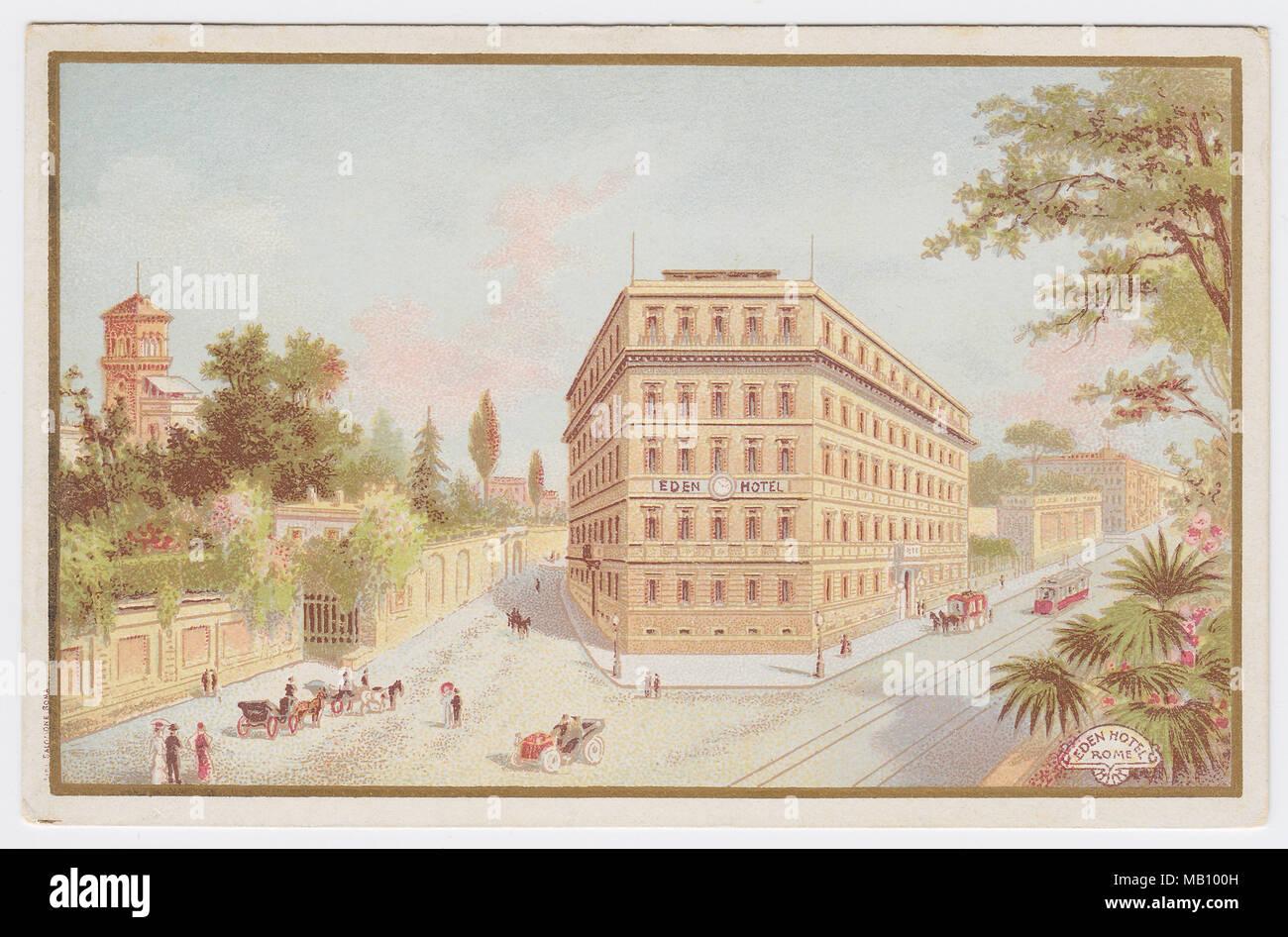 Hotel Eden, Rome, Italy - Stock Image