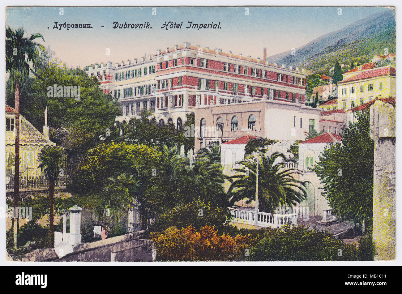 Hotel Imperial, Dubrovnik, Croatia - Stock Image