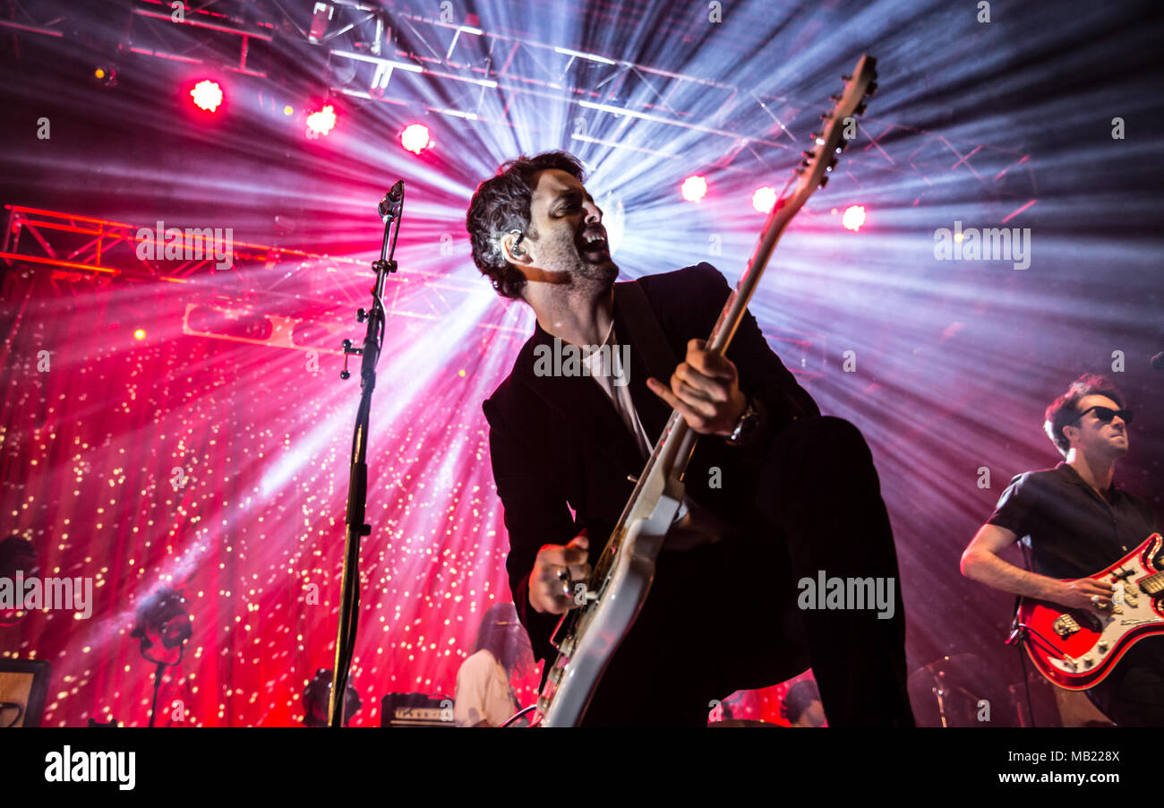 Bournemouth, UK. 5th April, 2018. The Vaccines live at the O2 Academy Bournemouth. Credit: Charlie Raven/Alamy Live News - Stock Image
