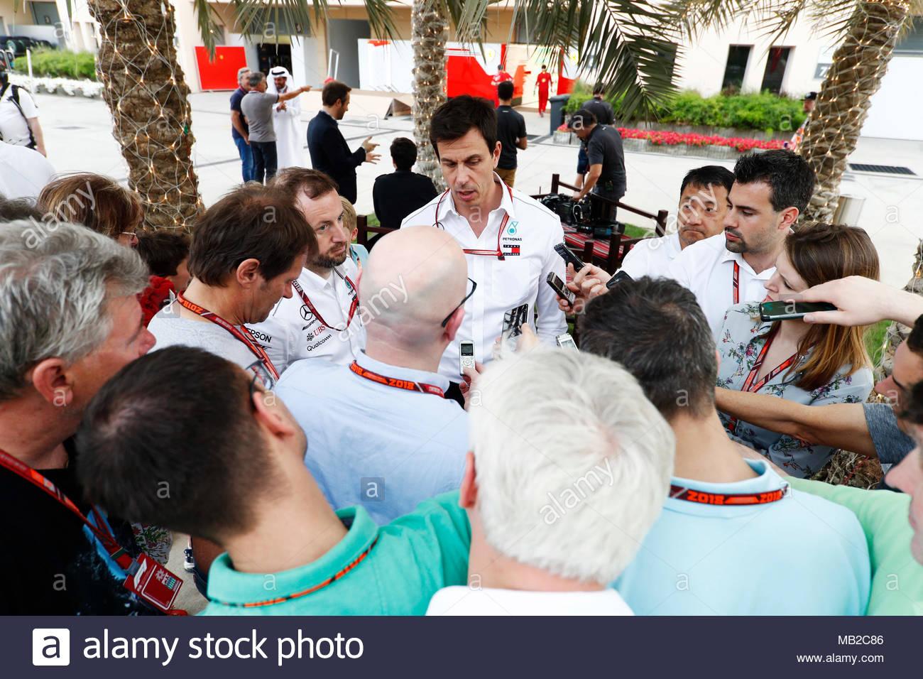 Bahrain International Circuit, Bahrain. 6th Apr, 2018. Toto Wolff ...
