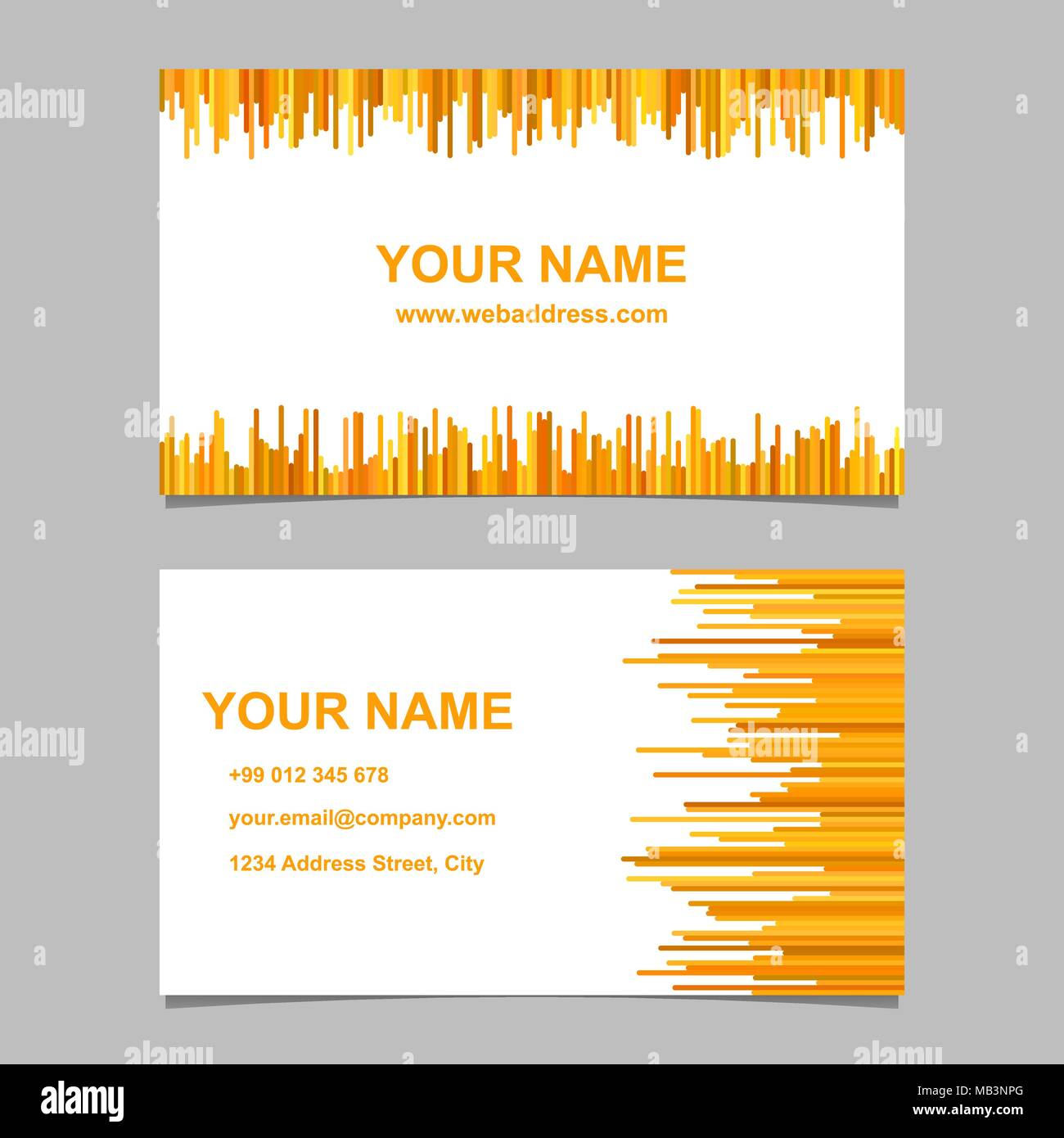 Modern business card template design set vector design with modern business card template design set vector design with rounded stripes in orange tones flashek Choice Image