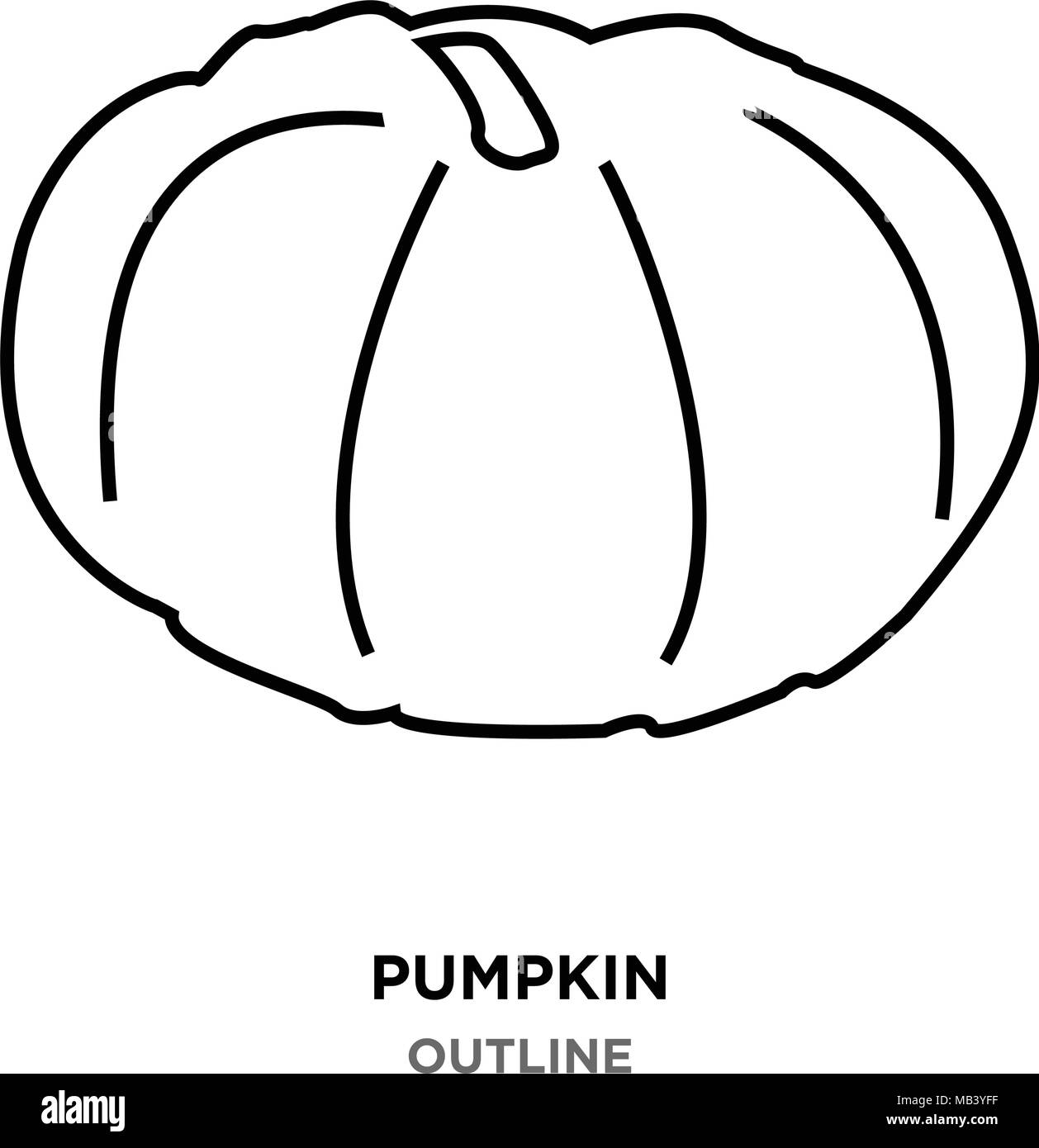 Pumpkin Outline Images On White Background Stock Vector Art