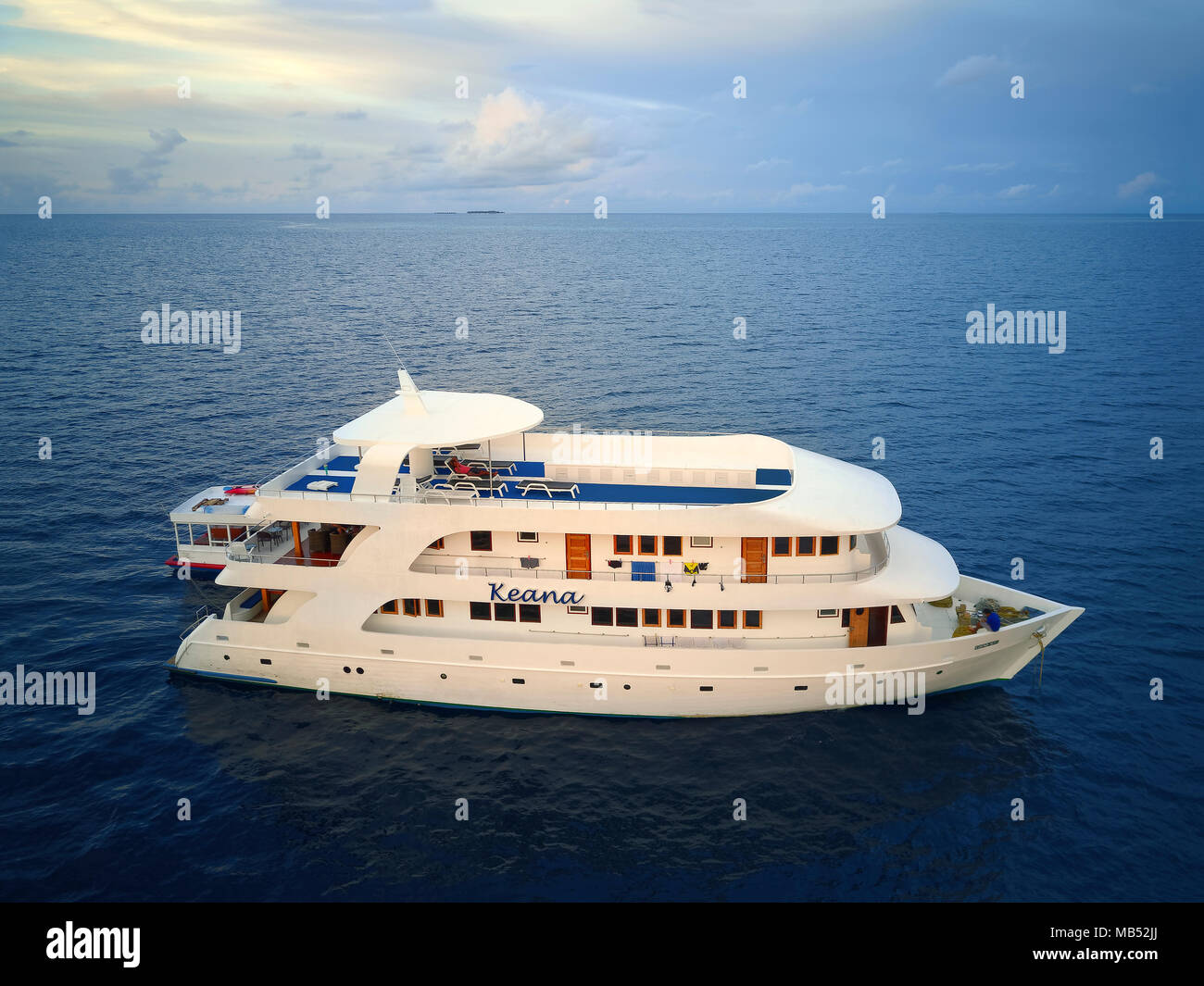Diving safari ship MS Keana, Ari-Atoll, Indian Ocean, Maldives - Stock Image
