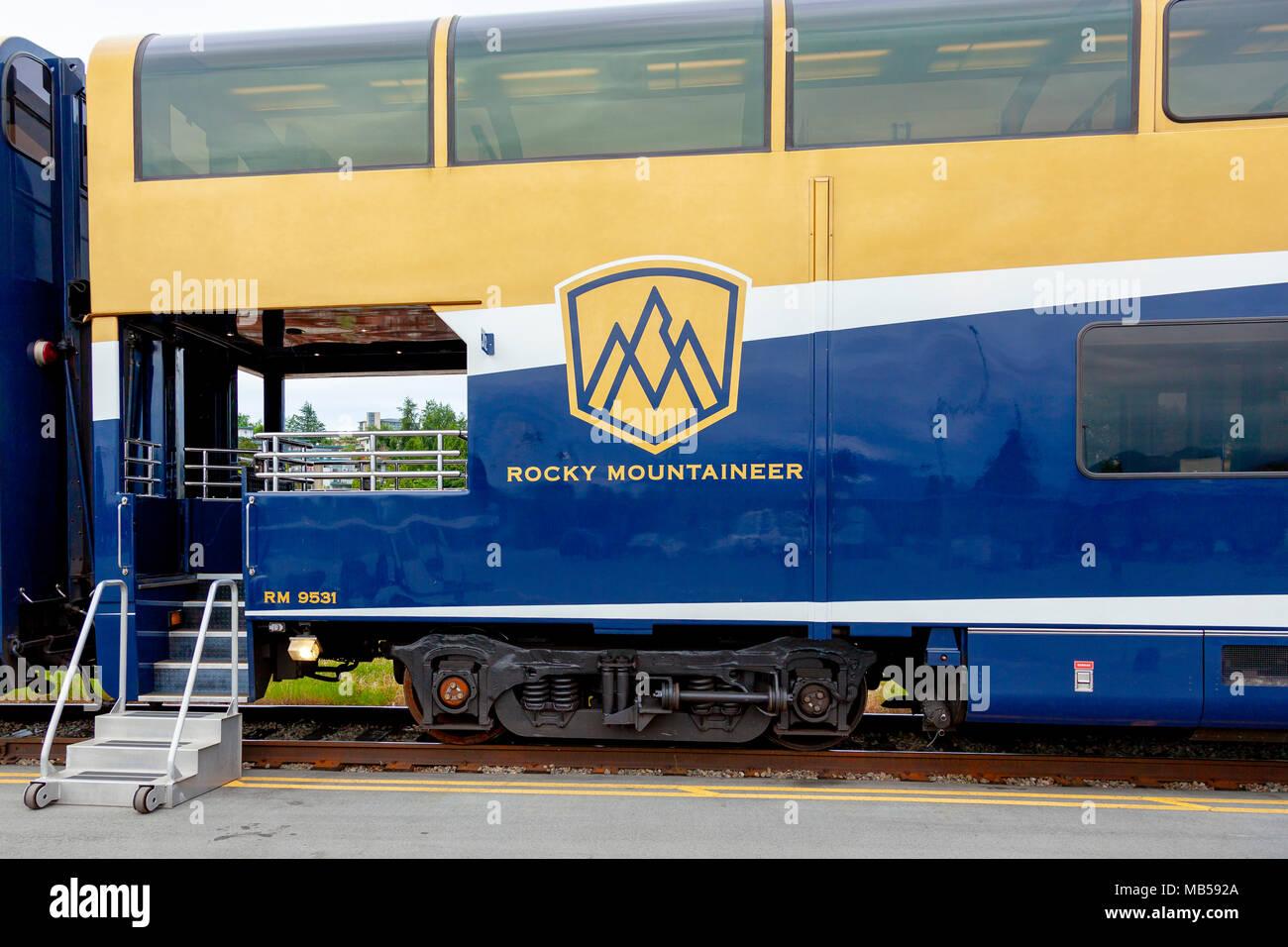The Rocky Mountaineer Train, British Columbia, Canada - Stock Image