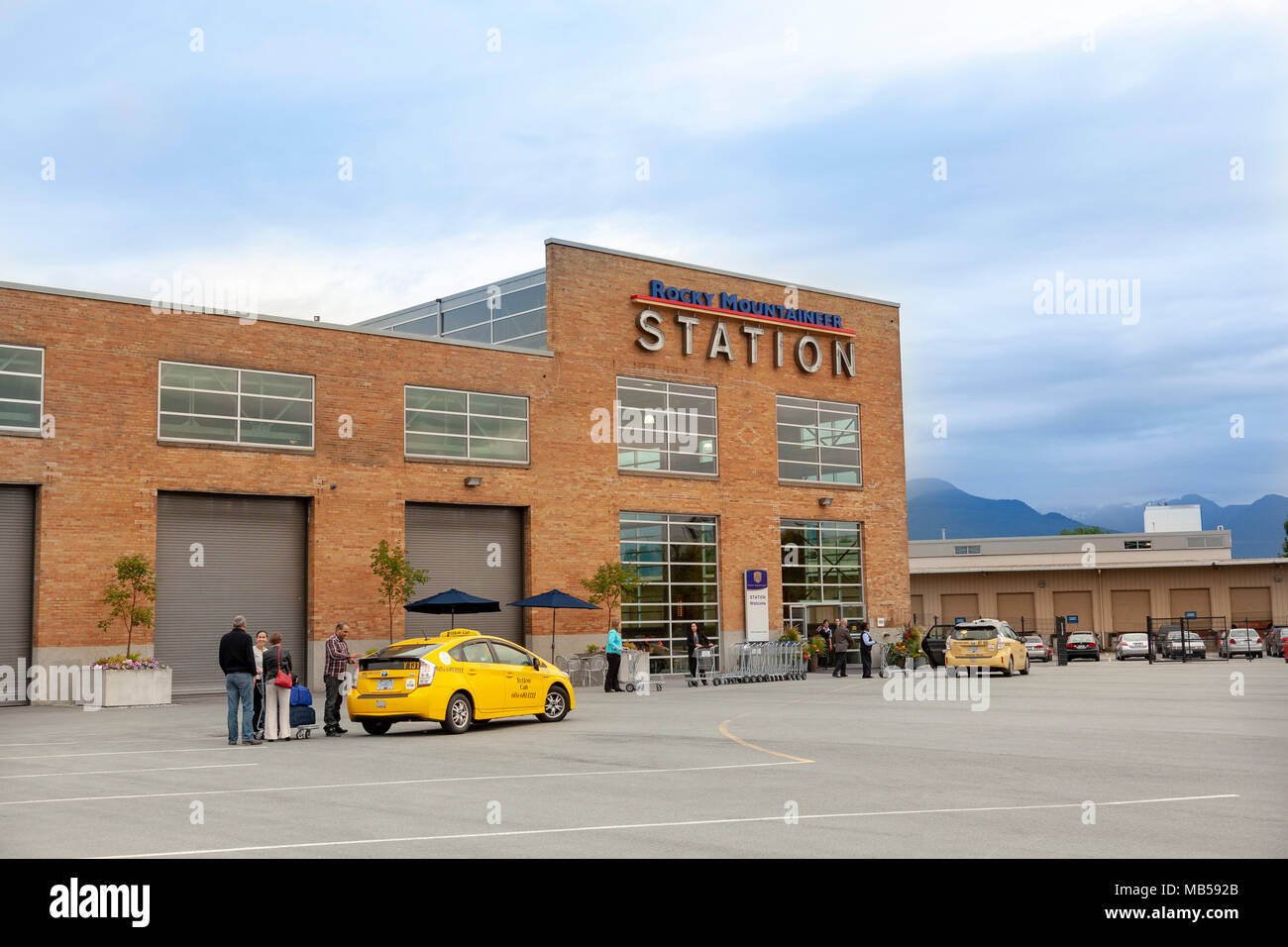Rocky Mountaineer Station, Vancouver, Canada - Stock Image
