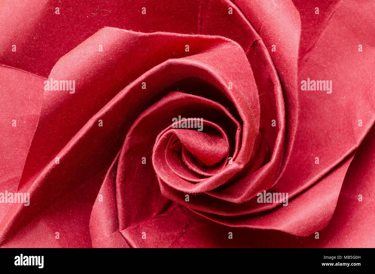 Abstract closeup of a romantic red paper origami rose flower stock abstract closeup of a romantic red paper origami rose flower mightylinksfo