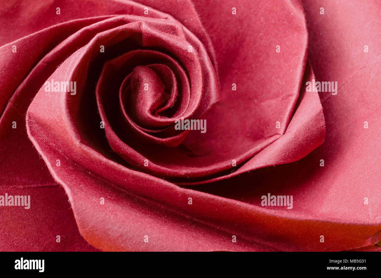 Abstract closeup of a realistic red paper origami rose flower stock abstract closeup of a realistic red paper origami rose flower mightylinksfo