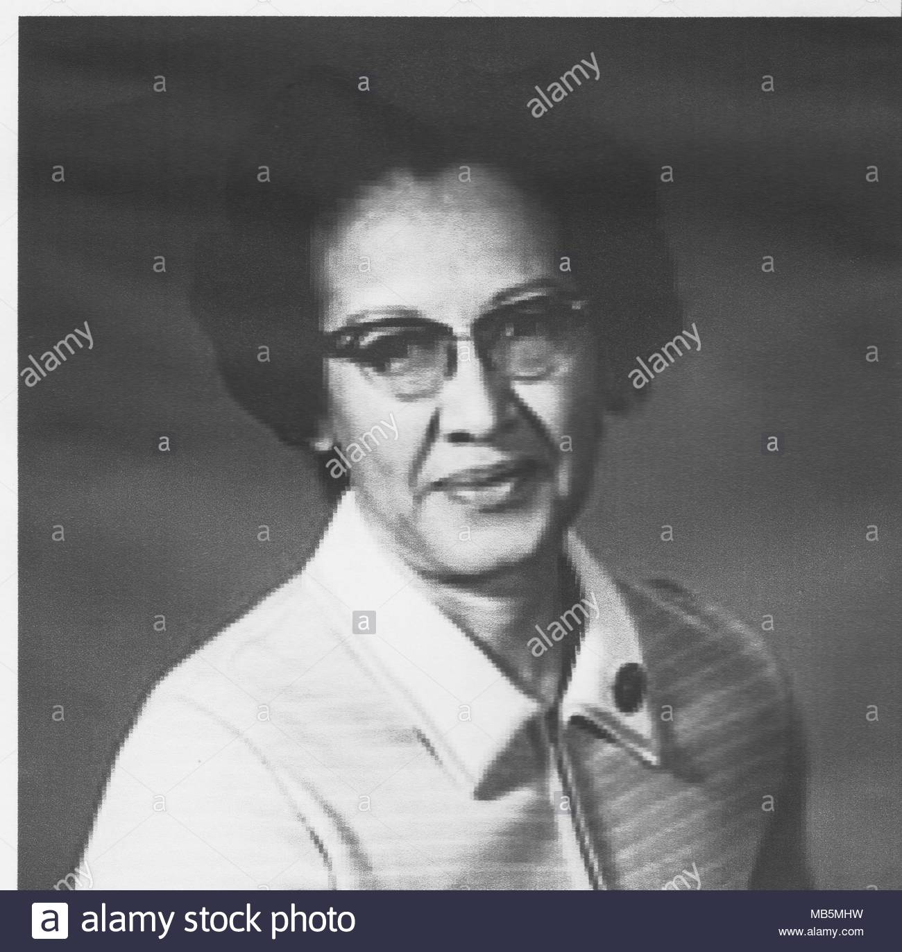 Katherine Coleman Goble Johnson is an African-American mathematician who made contributions to the United States' aeronautics and space program. - Stock Image
