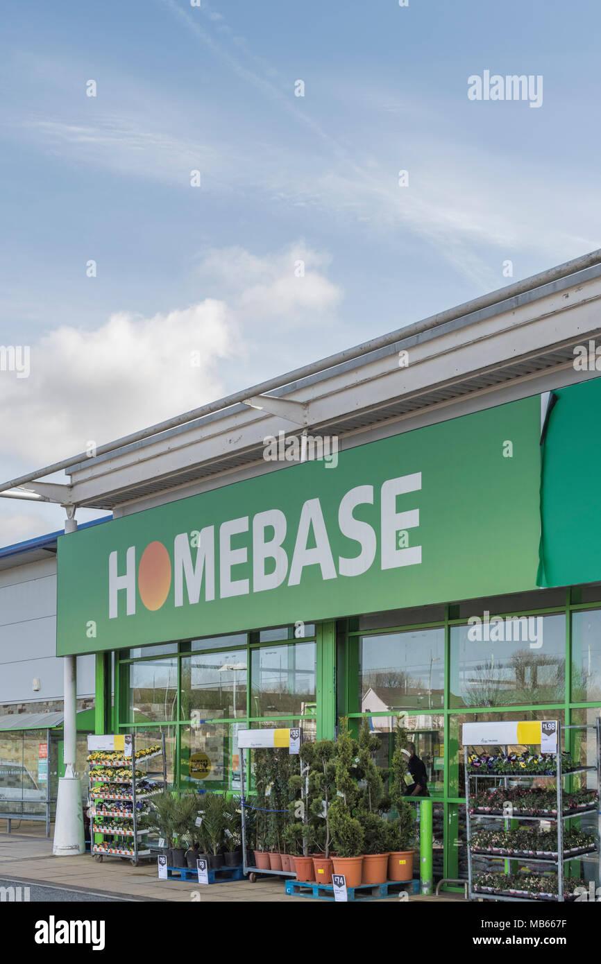 Exterior of Homebase store at Bodmin Reatil Prk, Cornwall, Uk. - Stock Image