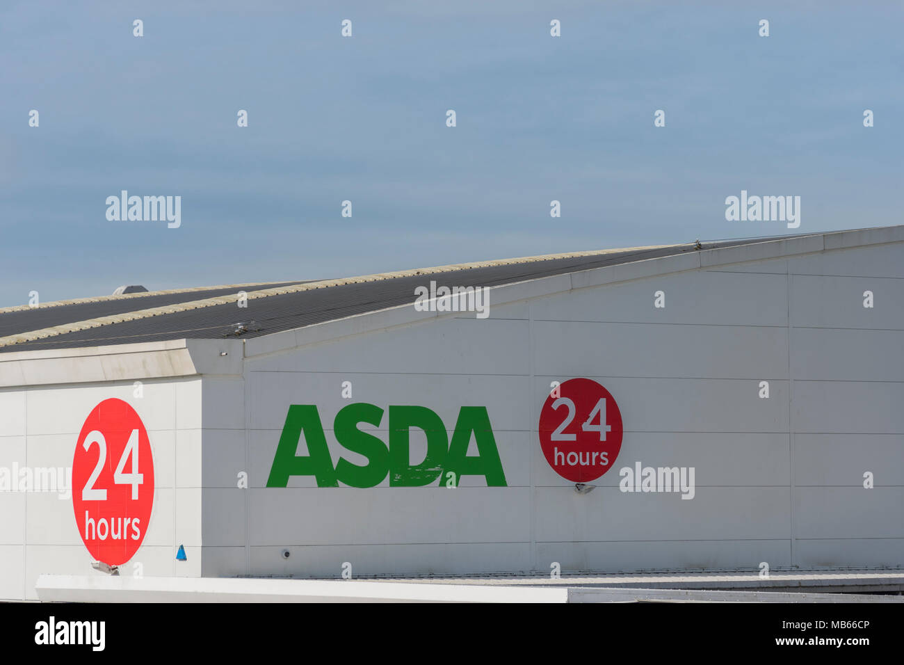 Exterior of 24-hour ASDA store in Bodmin, Cornwall. - Stock Image