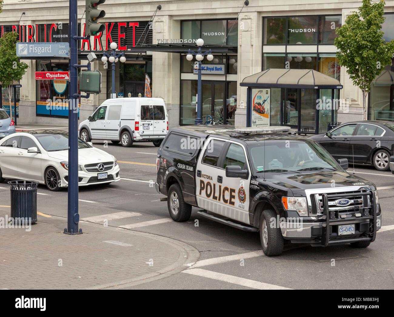 Police Patrol car, Victoria, British Columbia, Canada - Stock Image