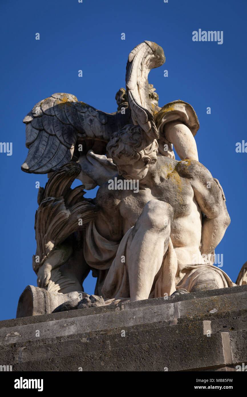 Chateau de Versailles (Palace of Versailles), a UNESCO World Heritage Site, France - detail of stone sculpture - Stock Image