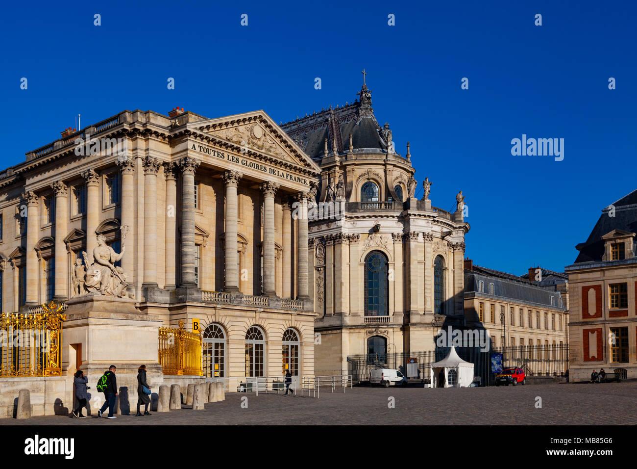 Chateau de Versailles (Palace of Versailles), a UNESCO World Heritage Site, France - Stock Image