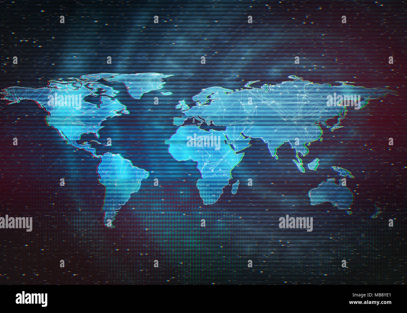 Abstract digital illustration of world map distorted interface abstract digital illustration of world map distorted interface screen signal error fail glitch effect technology background conceptual image gumiabroncs Choice Image