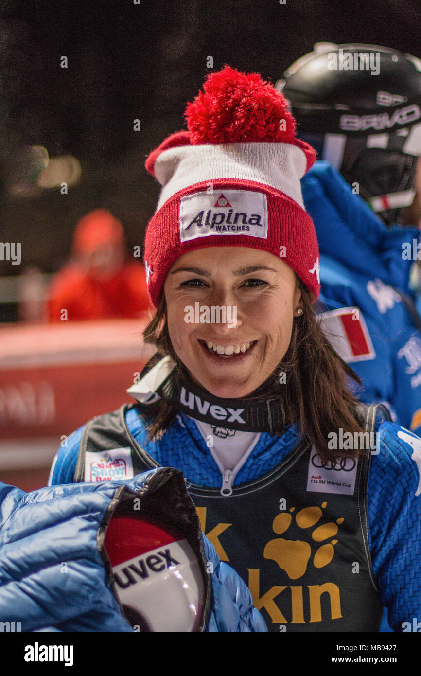 20 January 2017 Irene Curtoni of Italy Courchevel France Ladies Women Parallel Slalom Audi Fis Alpine Ski World Cup - Stock Image