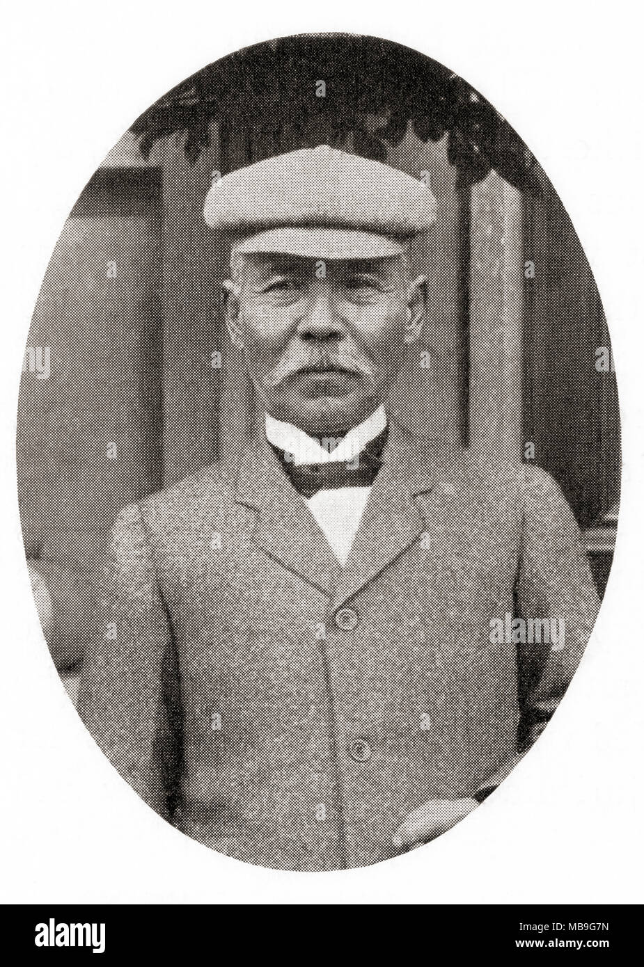 Count Tamemoto Kuroki, 1844 – 1923. Japanese general in the Imperial Japanese Army, head of the Japanese First Army during the Russo-Japanese War. From Hutchinson's History of the Nations, published 1915 - Stock Image