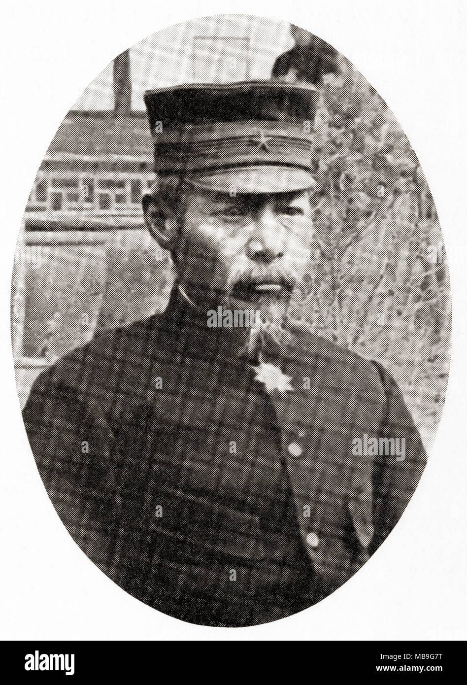 Count Oku Yasukata, 1847 – 1930.  Japanese field marshal and leading figure in the early Imperial Japanese Army.  From Hutchinson's History of the Nations, published 1915 - Stock Image